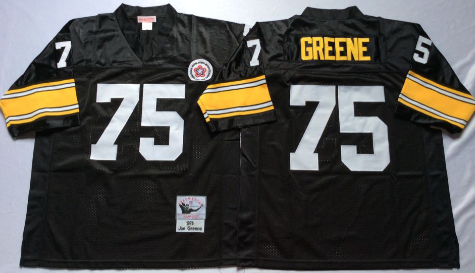 Men NFL Pittsburgh Steelers 75 Greene black Mitchell Ness jerseys