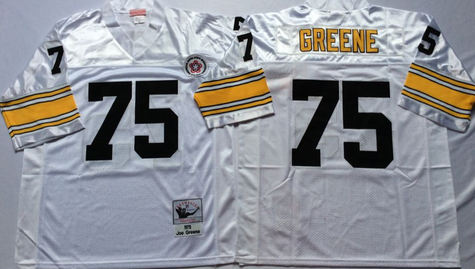 Men NFL Pittsburgh Steelers 75 Greene white Mitchell Ness jerseys