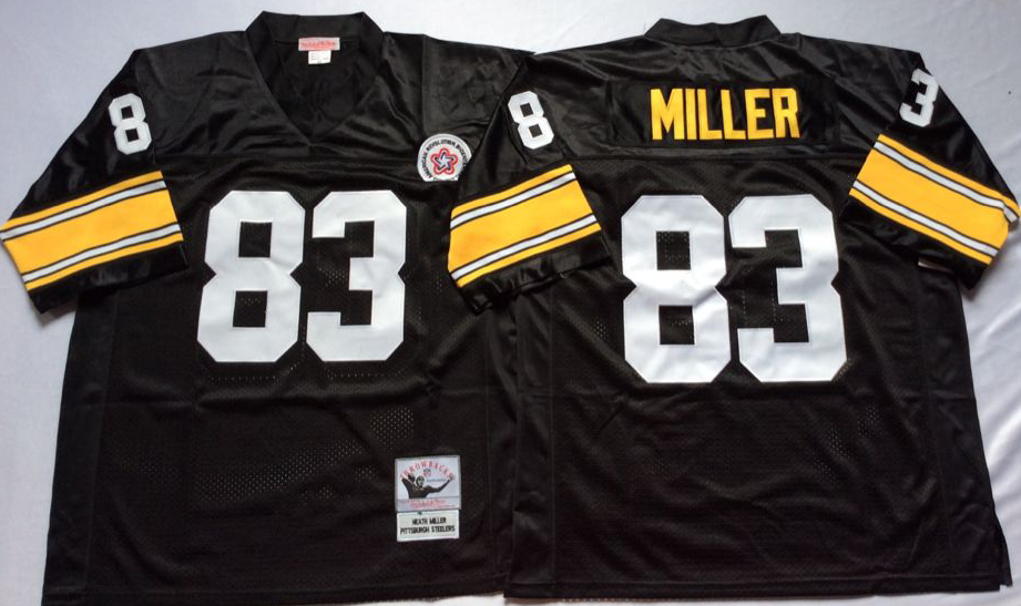 Men NFL Pittsburgh Steelers 83 Miller black Mitchell Ness jerseys