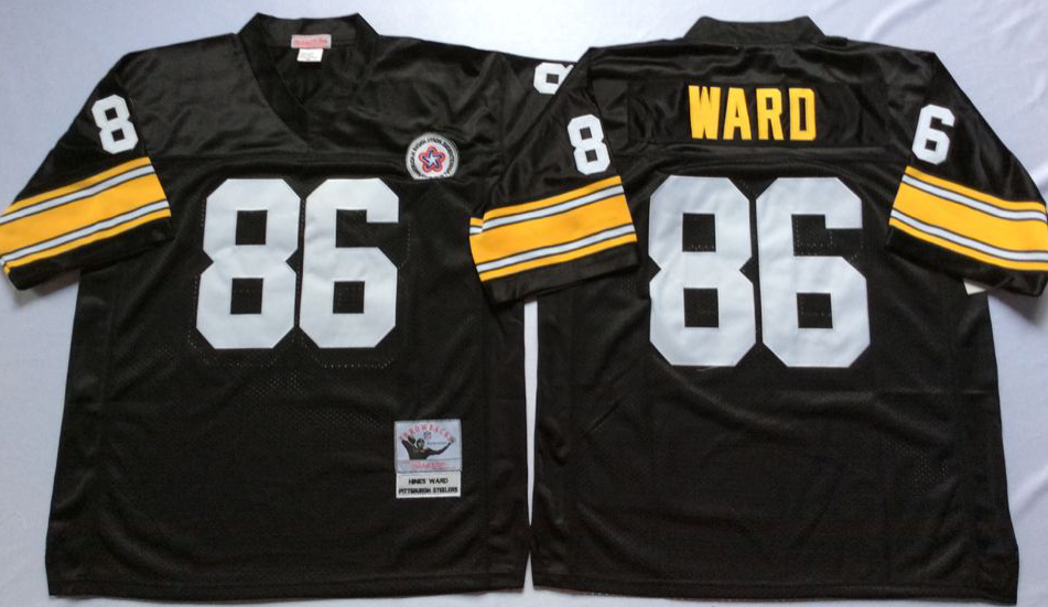 Men NFL Pittsburgh Steelers 86 Ward black Mitchell Ness jerseys