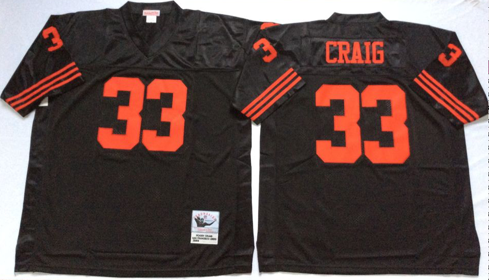 Men NFL San Francisco 49ers 33 Craig black Mitchell Ness jersey