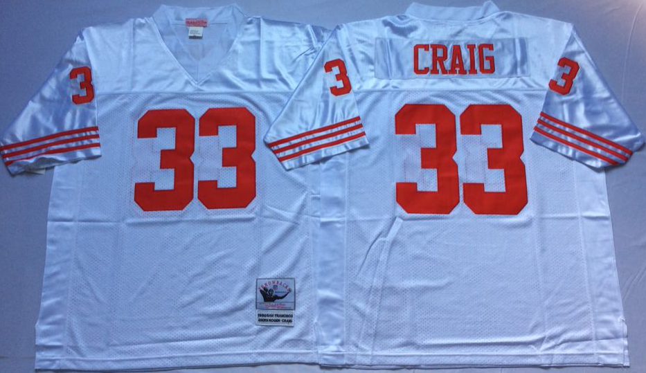 Men NFL San Francisco 49ers 33 Craig white Mitchell Ness jersey