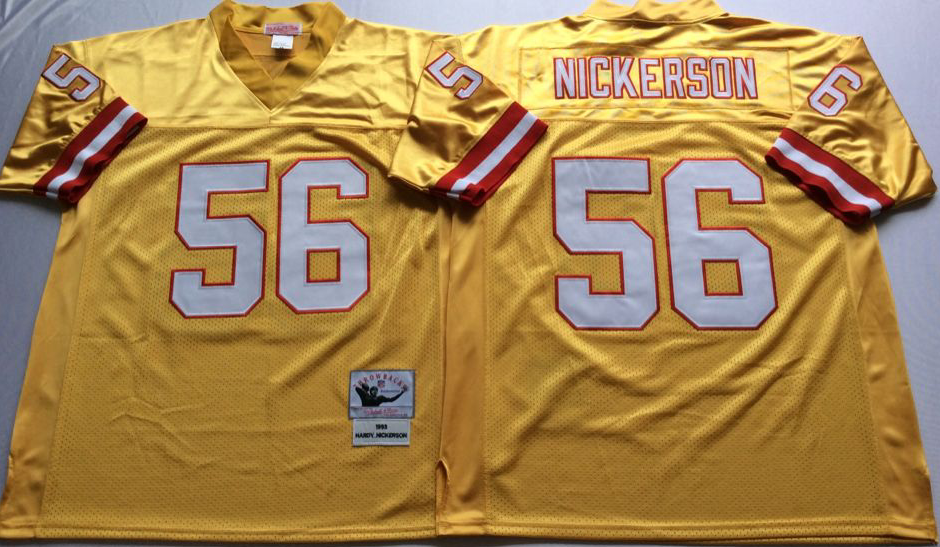 Men NFL Tampa Bay Buccaneers 56 Nickerson yellow Mitchell Ness jerseys