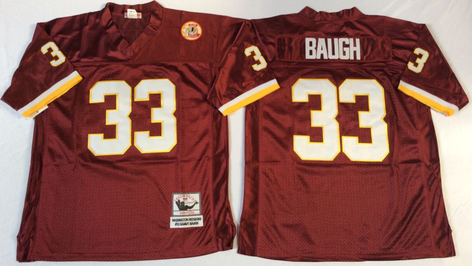 Men NFL Washington Redskins 33 Baugh red Mitchell Ness jerseys
