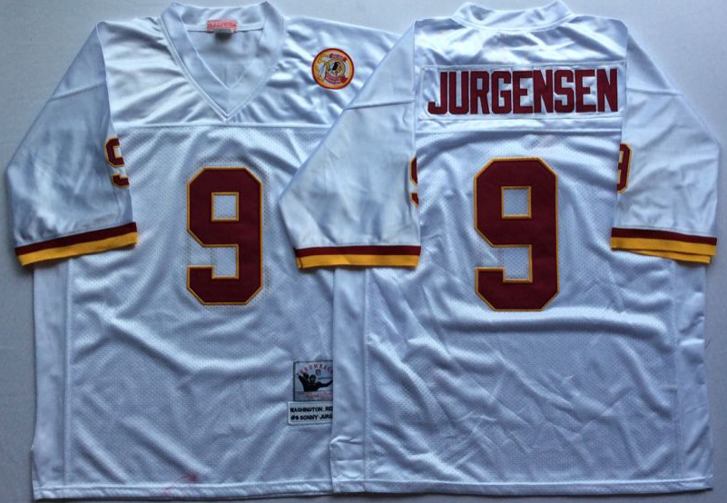 Men NFL Washington Redskins 9 Jurgensen white Mitchell Ness jerseys