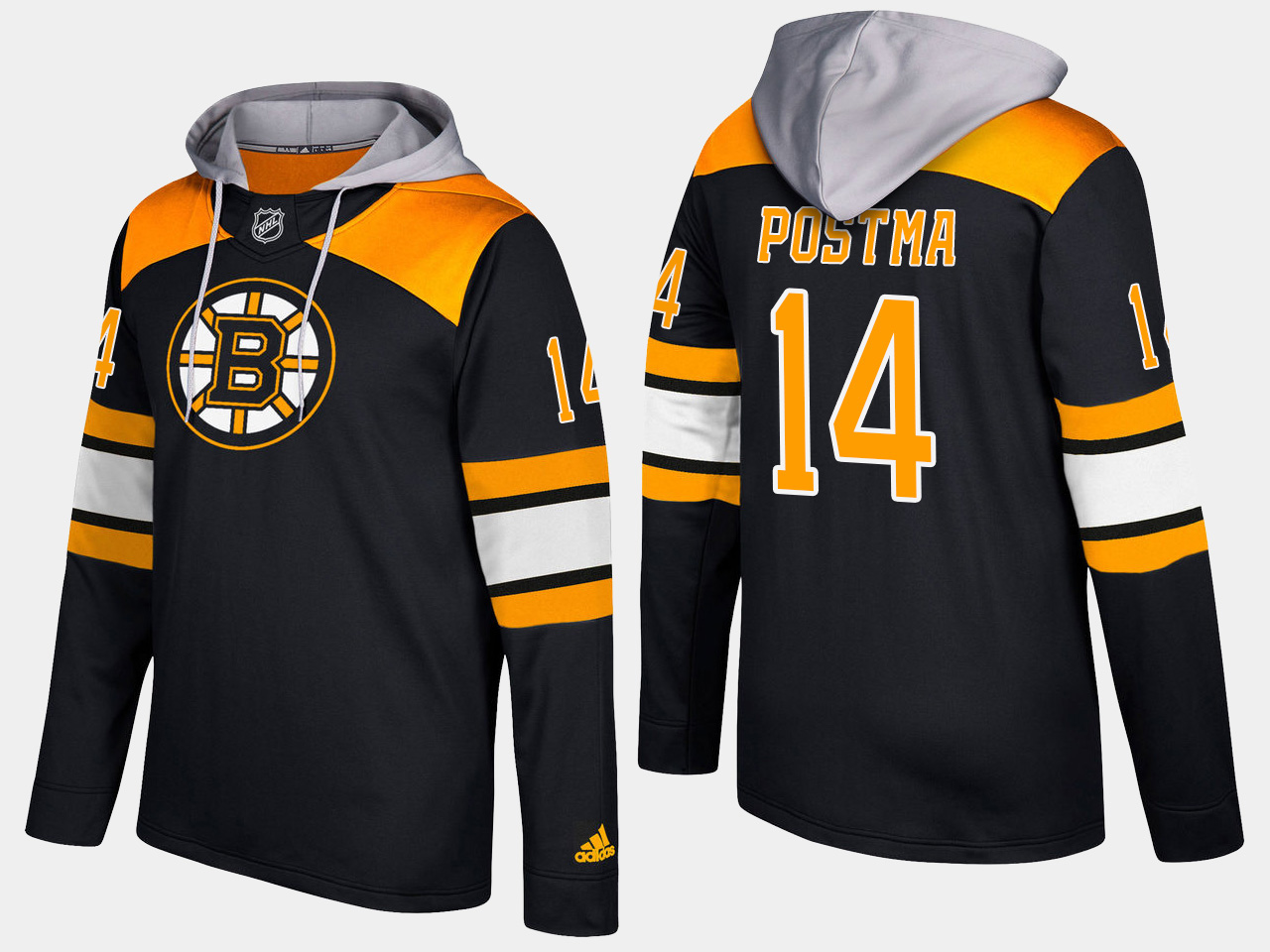 Men NHL Boston bruins 14 paul postma black hoodie