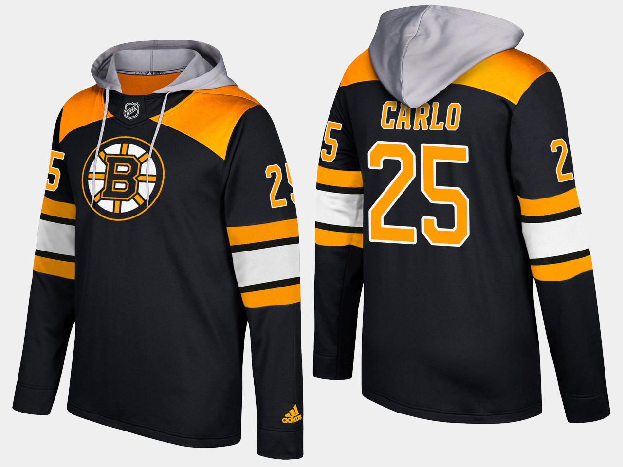 Men NHL Boston bruins 25 brandon carlo black hoodie