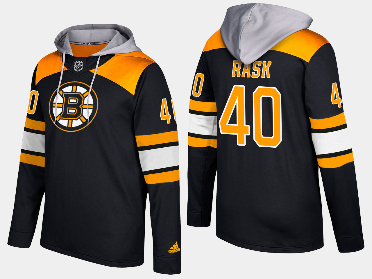 Men NHL Boston bruins 40 tuukka rask black hoodie