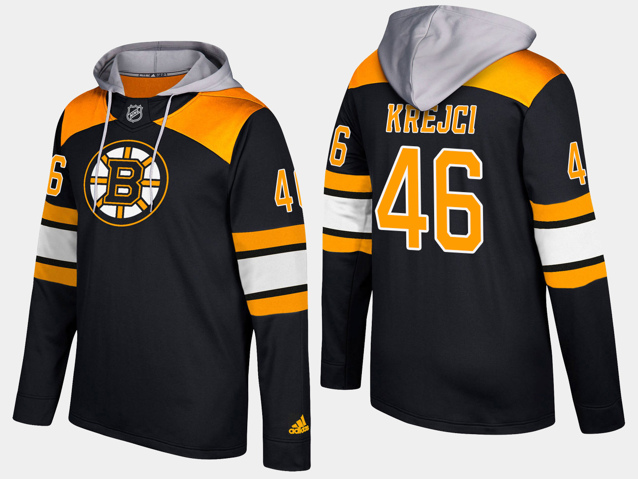 Men NHL Boston bruins 46 david krejci black hoodie