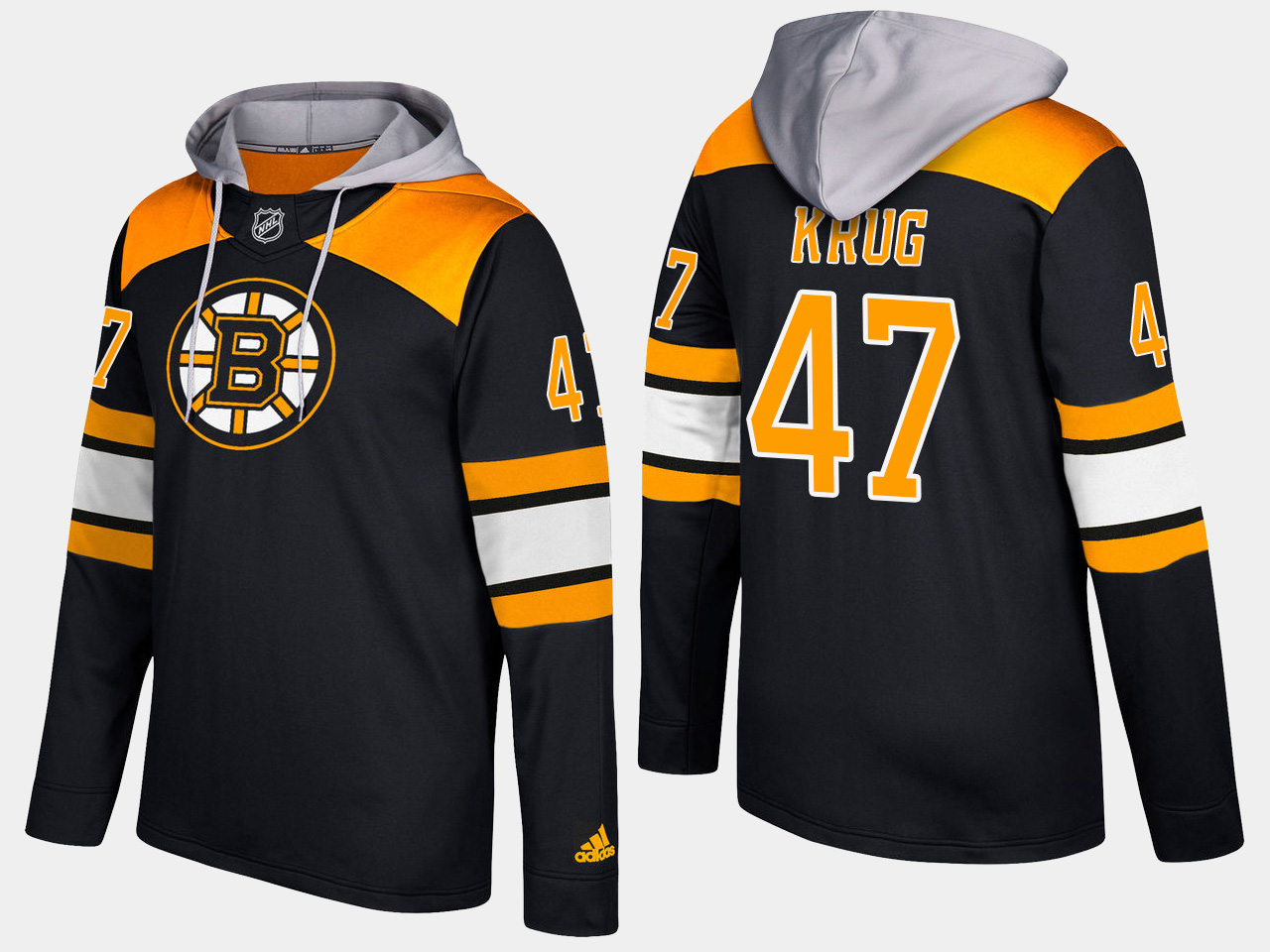 Men NHL Boston bruins 47 torey krug black hoodie