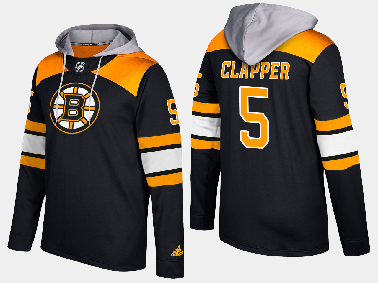 Men NHL Boston bruins retired 5 dit clapper black hoodie