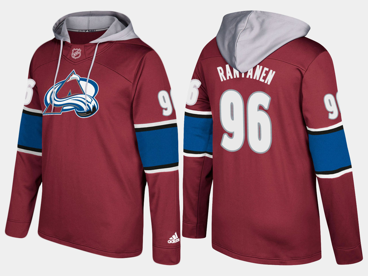 Men NHL Colorado avalanche 96 mikko rantanen burgundy hoodie
