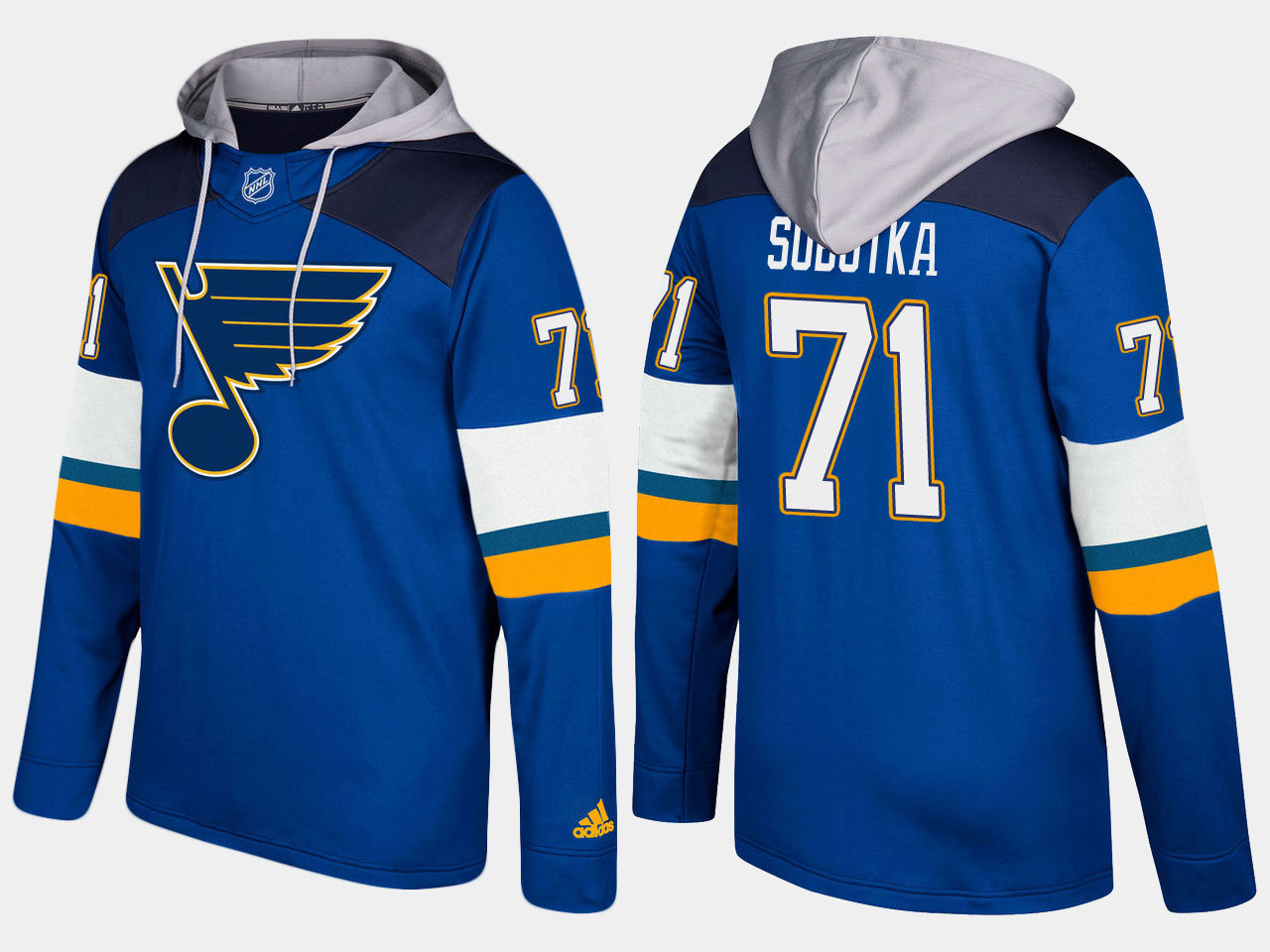 Men NHL St.Louis blues 71 vladimir sobotka blue hoodie