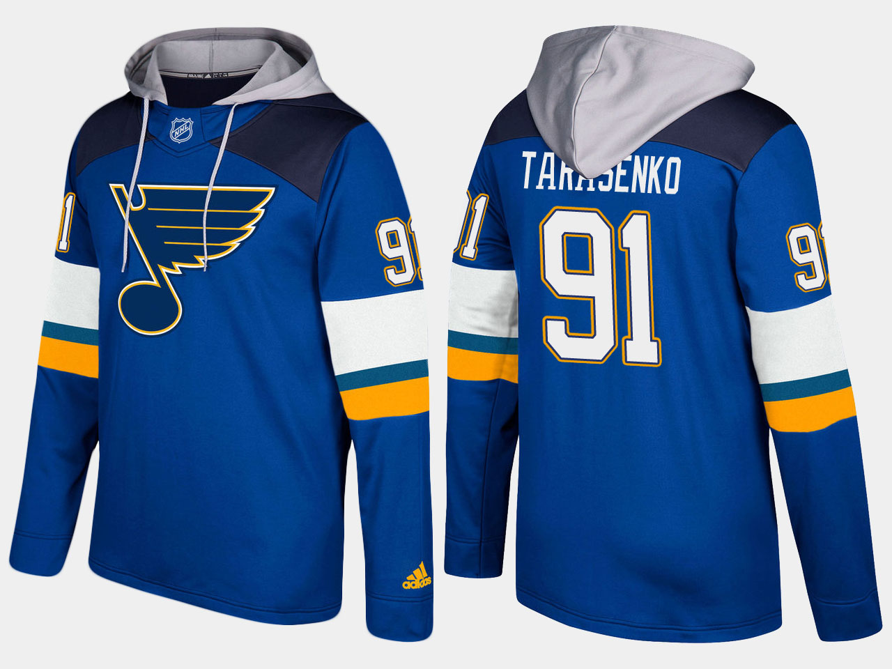Men NHL St.Louis blues 91 vladimir tarasenko blue hoodie