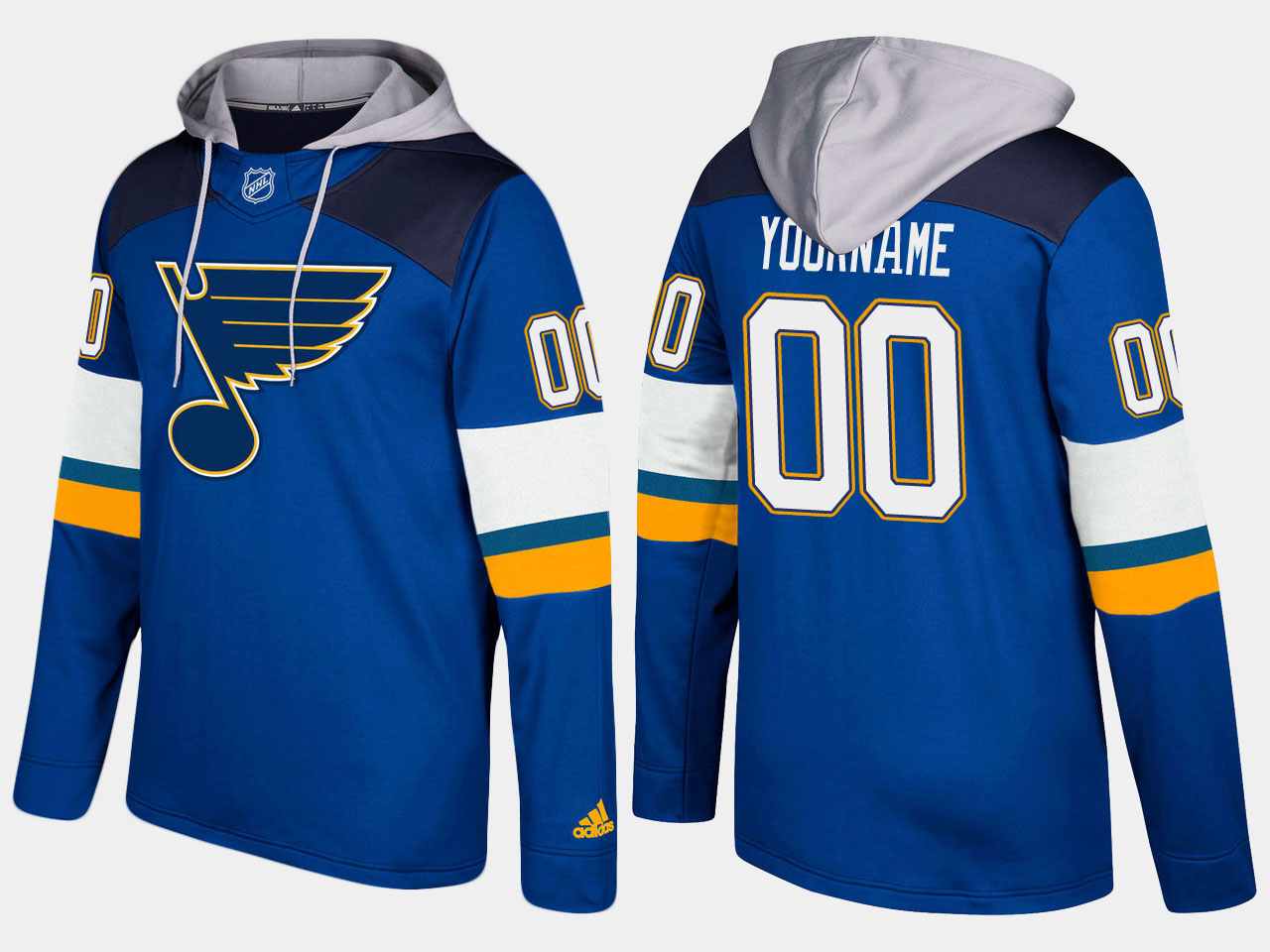 Men NHL St.Louis blues customized blue hoodie
