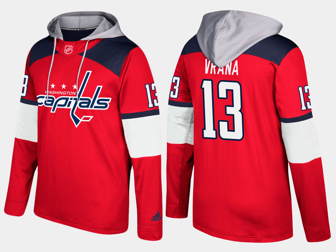 Men NHL Washington capitals 13 jakub vrana red hoodie