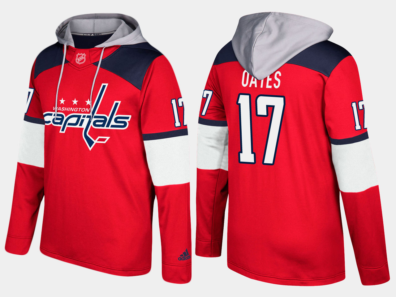 Men NHL Washington capitals retired 17 adam oates red hoodie