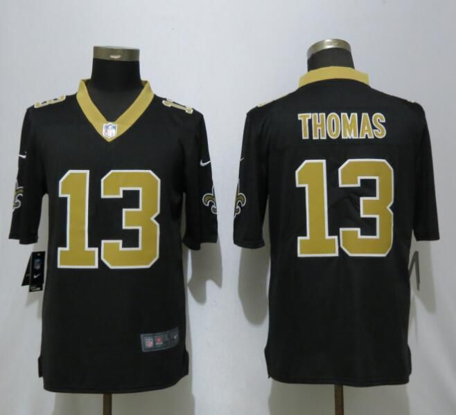 Men New Orleans Saints 13 Thomas Black Nike Vapor Untouchable Limited Playe NFL Jerseys