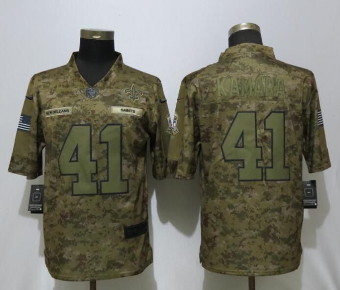 Men New Orleans Saints 41 Kamara Nike Camo Salute to Service Limited NFL Jerseys