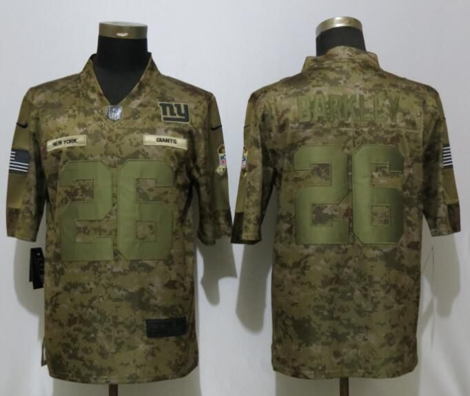 Men New York Giants 26 Barkley Nike Camo Salute to Service Limited NFL Jerseys