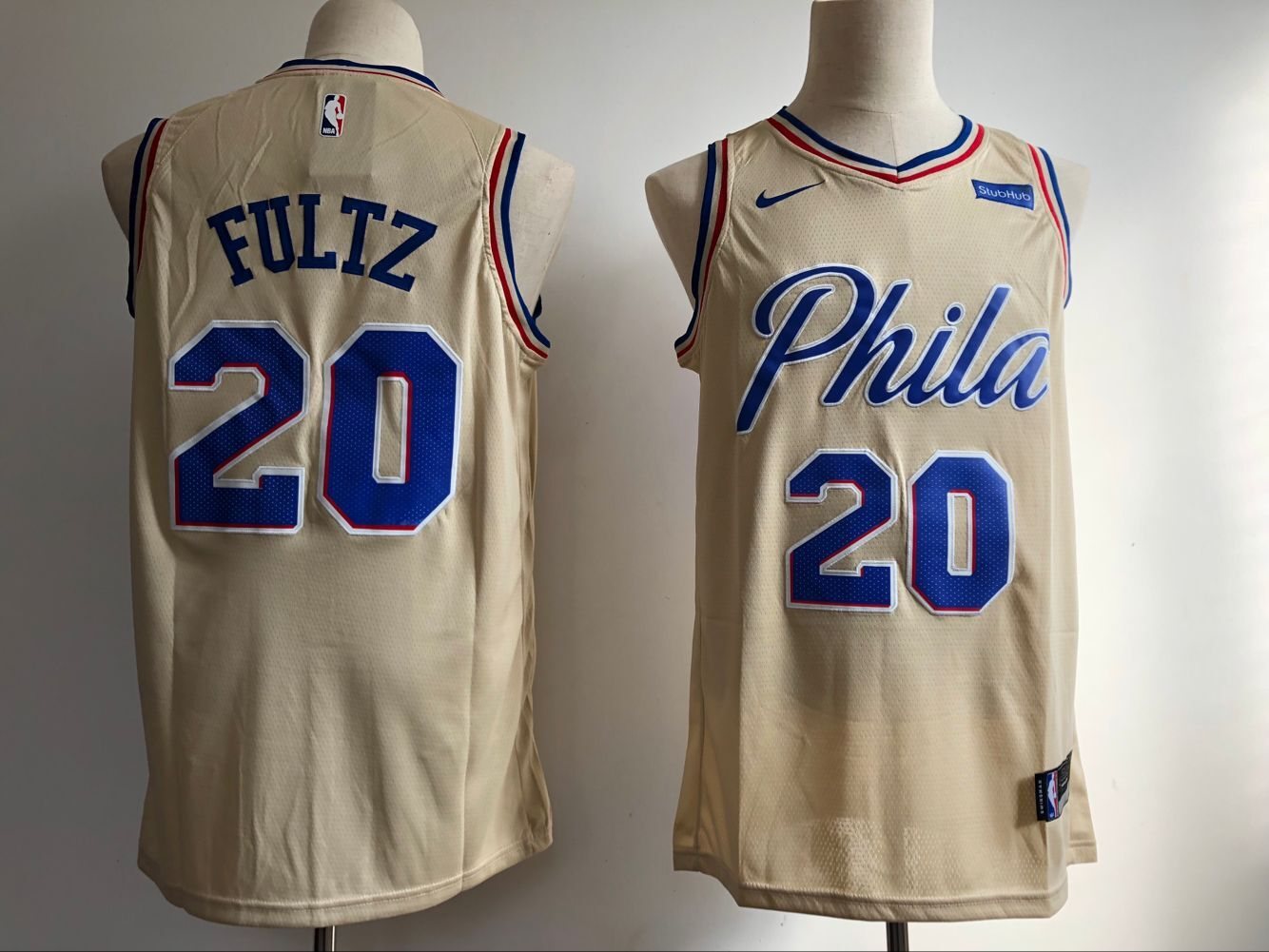 Men Philadelphia 76ers 20 Fultz Gream City Edition Game Nike NBA Jerseys