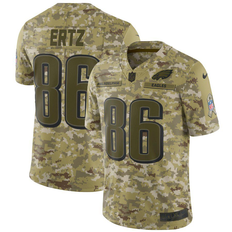 Men Philadelphia Eagles 86 Ertz Nike Camo Salute to Service Retired Player Limited NFL Jerseys
