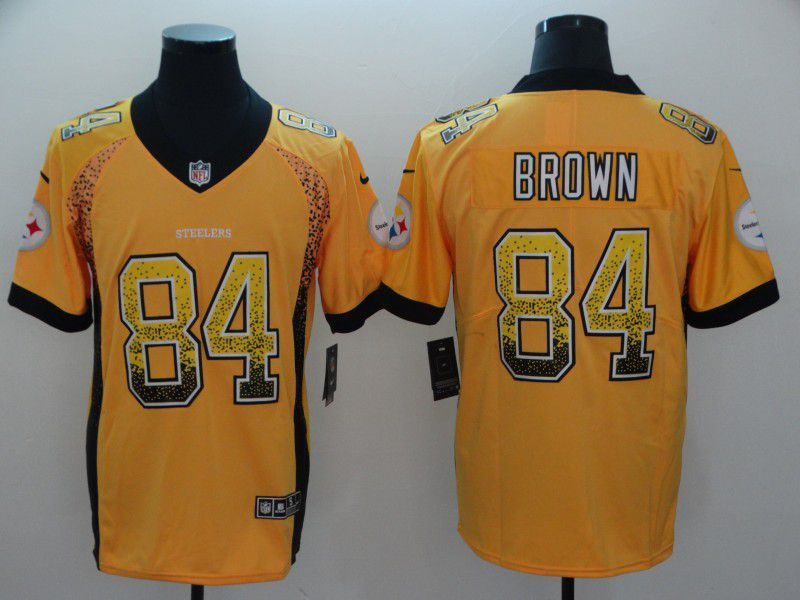 Men Pittsburgh Steelers 84 Brown Yellow Nike Drift Fashion Color Rush Limited NFL Jerseys