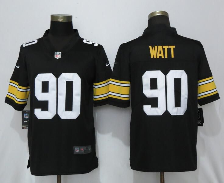 Men Pittsburgh Steelers 90 Watt Nike Black Alternate Game NFL Jerseys