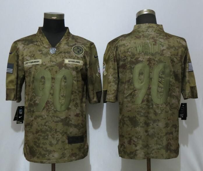 Men Pittsburgh Steelers 90 Watt Nike Camo Salute to Service Limited NFL  Jerseys f964b6b16