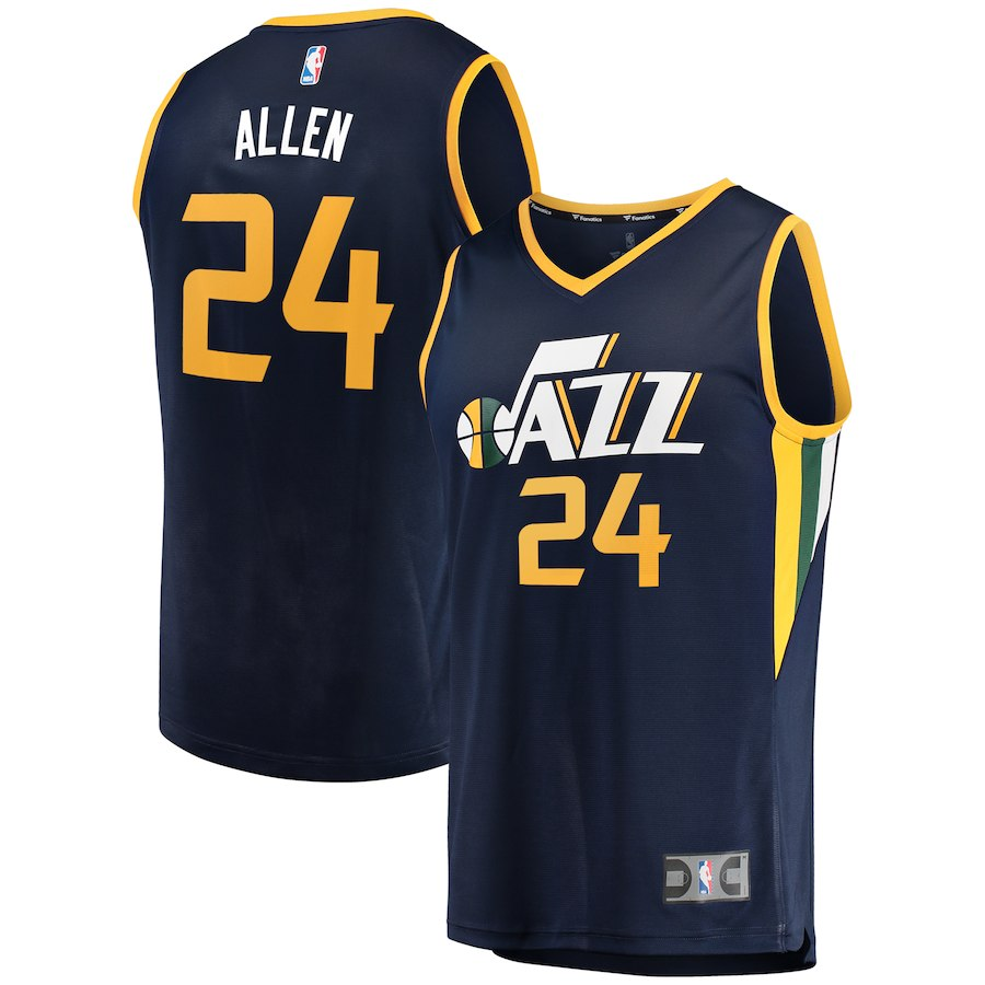 Men Utah Jazz 24 Grayson Allen Navy Nike NBA Jersey