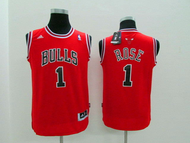 NBA Chicago Bulls 1 Rose red Game Nike Youth Jerseys