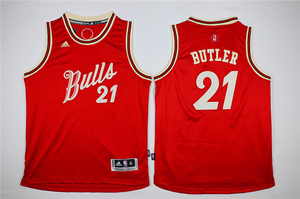 NBA Youth Chicago Bulls 21 Butler red Game Nike Jerseys