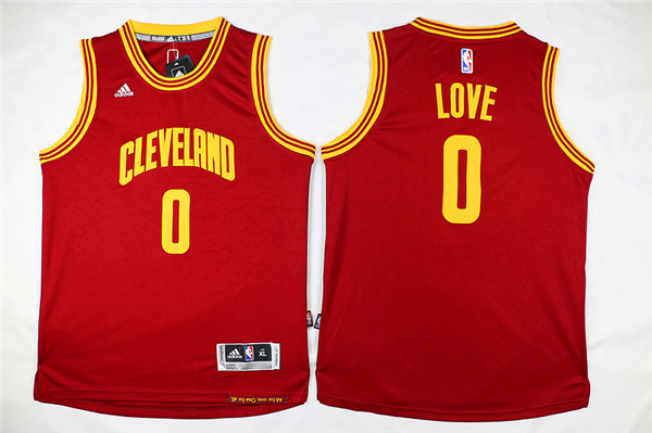 NBA Youth Cleveland Cavaliers 0 Love Red Game Nike Jerseys