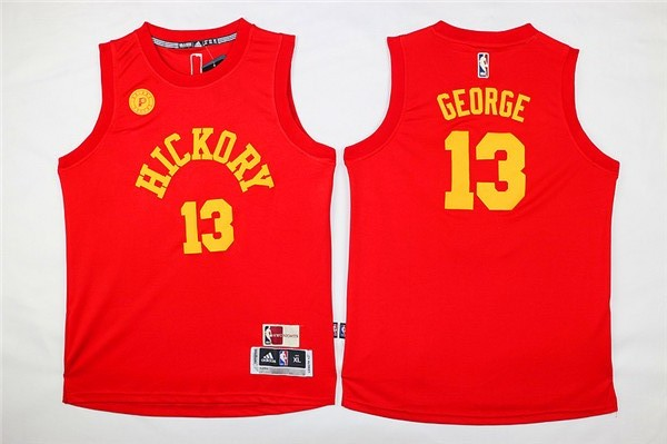 NBA Youth Indlana Pacers 13 Paul George red Jerseys
