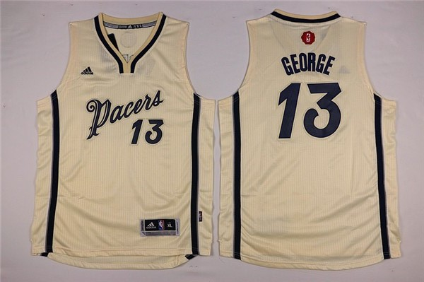 NBA Youth Indlana Pacers 13 Paul George white Jerseys