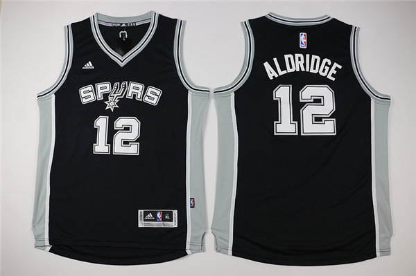 NBA Youth San Antonio Spurs 12 Aldridge Black Game Nike Jerseys