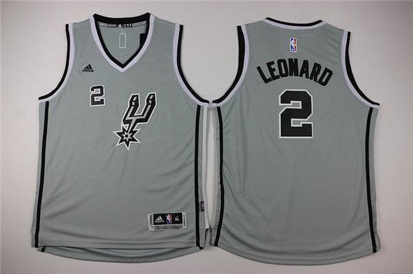 NBA Youth San Antonio Spurs 2 Leonard grey Game Nike Jerseys