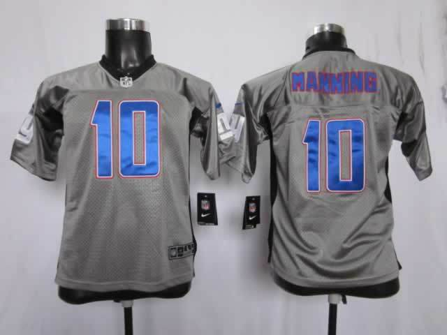 NFL Youth New York Giants 10 Manning grey Nike Jersey