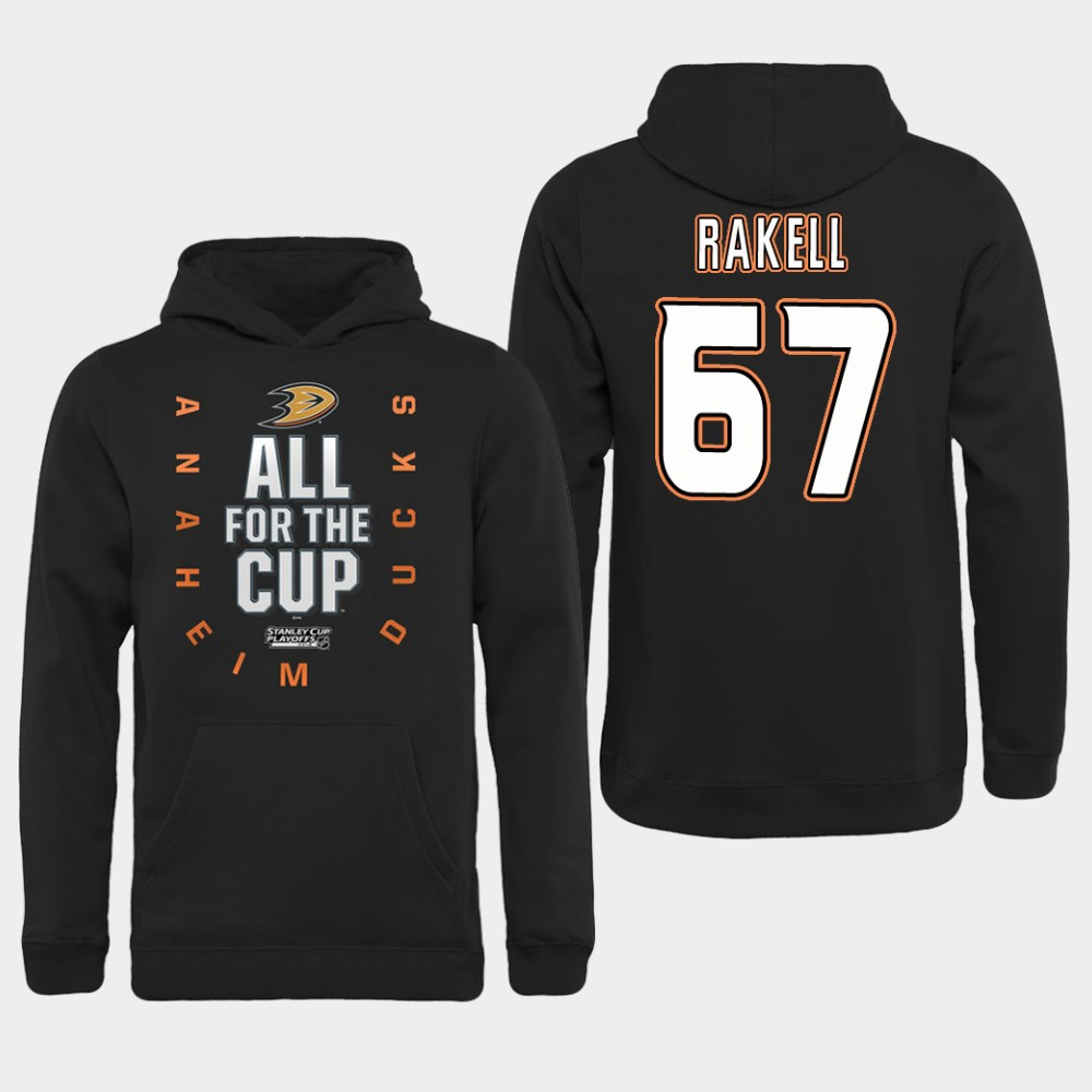 NHL Men Anaheim Ducks 67 Rakell Black All for the Cup Hoodie
