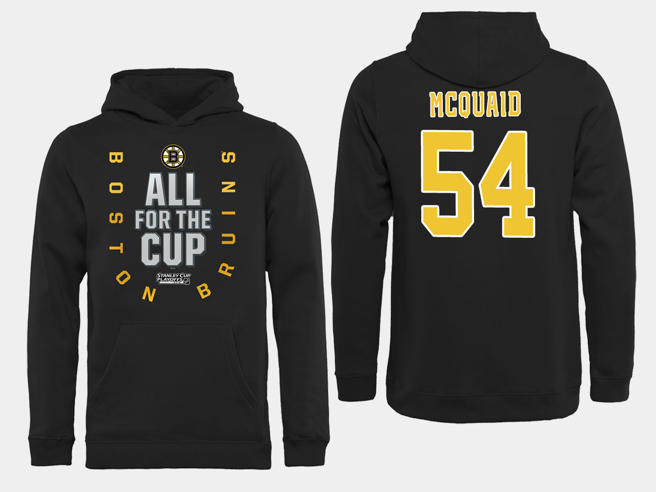 NHL Men Boston Bruins 54 Mcquaid Black All for the Cup Hoodie