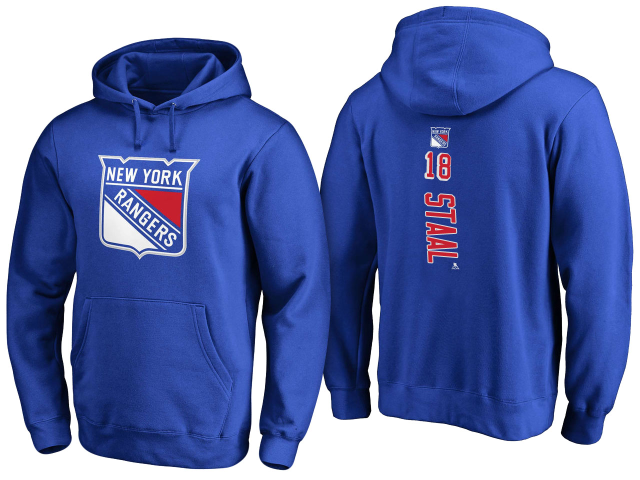NHL Men New York Rangers 18 Staal blue Adidas Hoodie