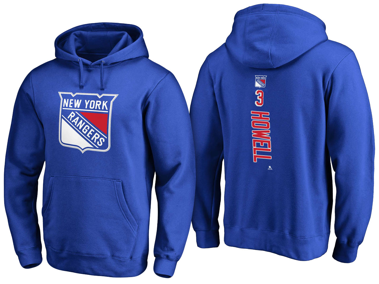 NHL Men New York Rangers 3 Howell blue Adidas Hoodie