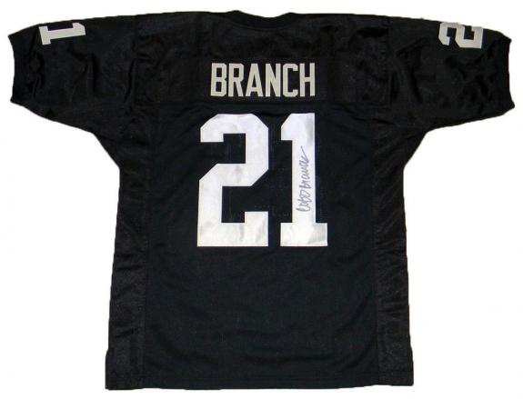 Men Oakland Raiders 21 Cliff Branch signed Black Throwback unlicensed Custom Stitched Pro Style Football Jersey