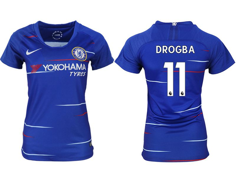 Women 2018-2019 club Chelsea aaa version home 11 blue soccer jerseys1