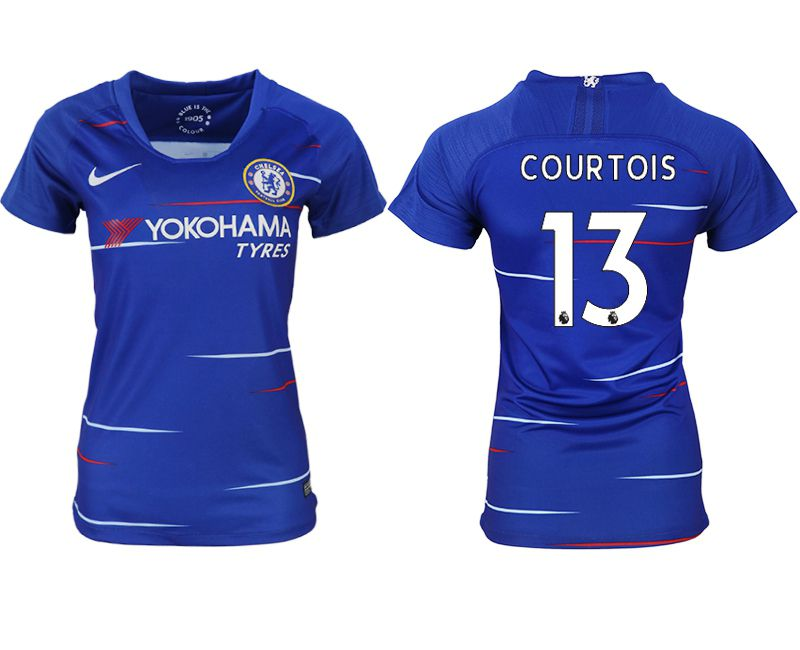 Women 2018-2019 club Chelsea aaa version home 13 blue soccer jerseys