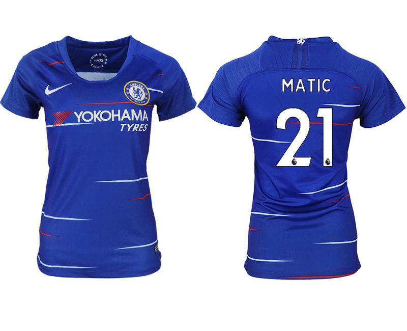 Women 2018-2019 club Chelsea aaa version home 21 blue soccer jerseys