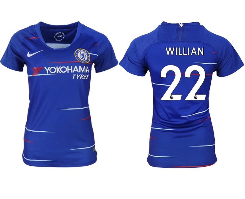 Women 2018-2019 club Chelsea aaa version home 22 blue soccer jerseys