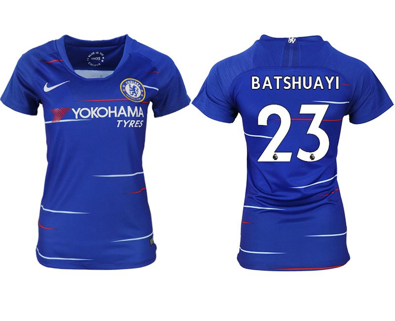 Women 2018-2019 club Chelsea aaa version home 23 blue soccer jerseys