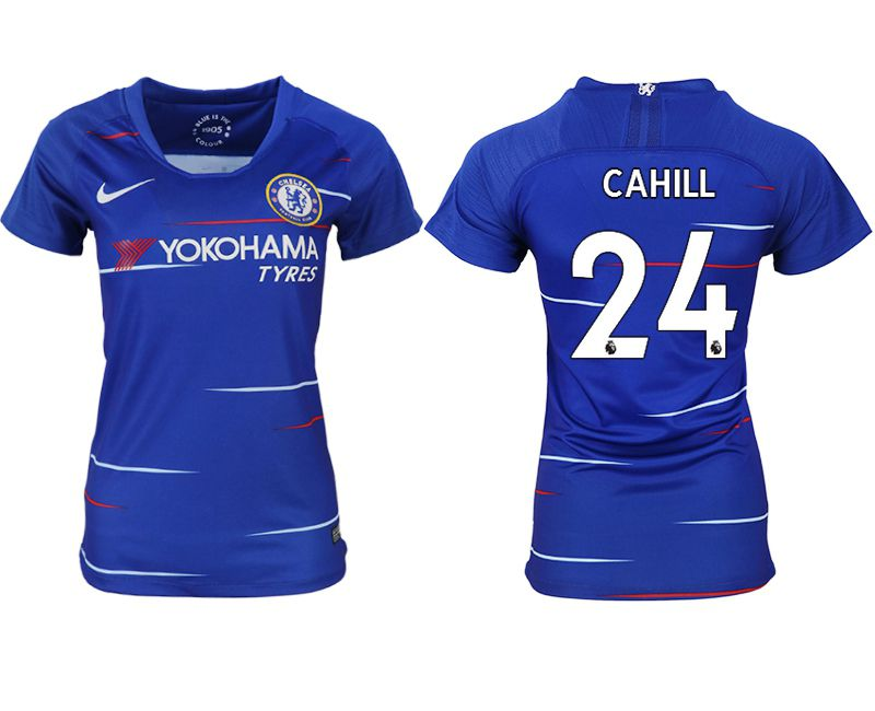 Women 2018-2019 club Chelsea aaa version home 24 blue soccer jerseys