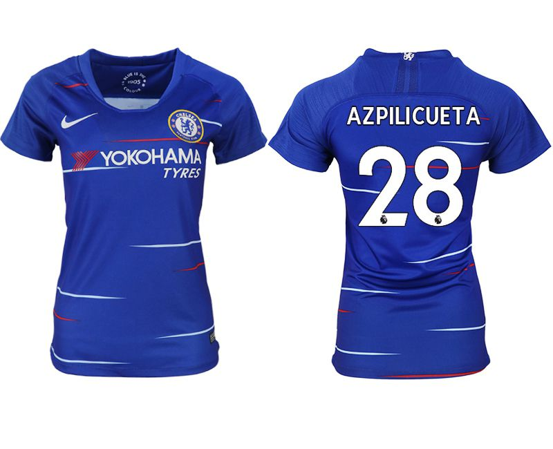 Women 2018-2019 club Chelsea aaa version home 28 blue soccer jerseys